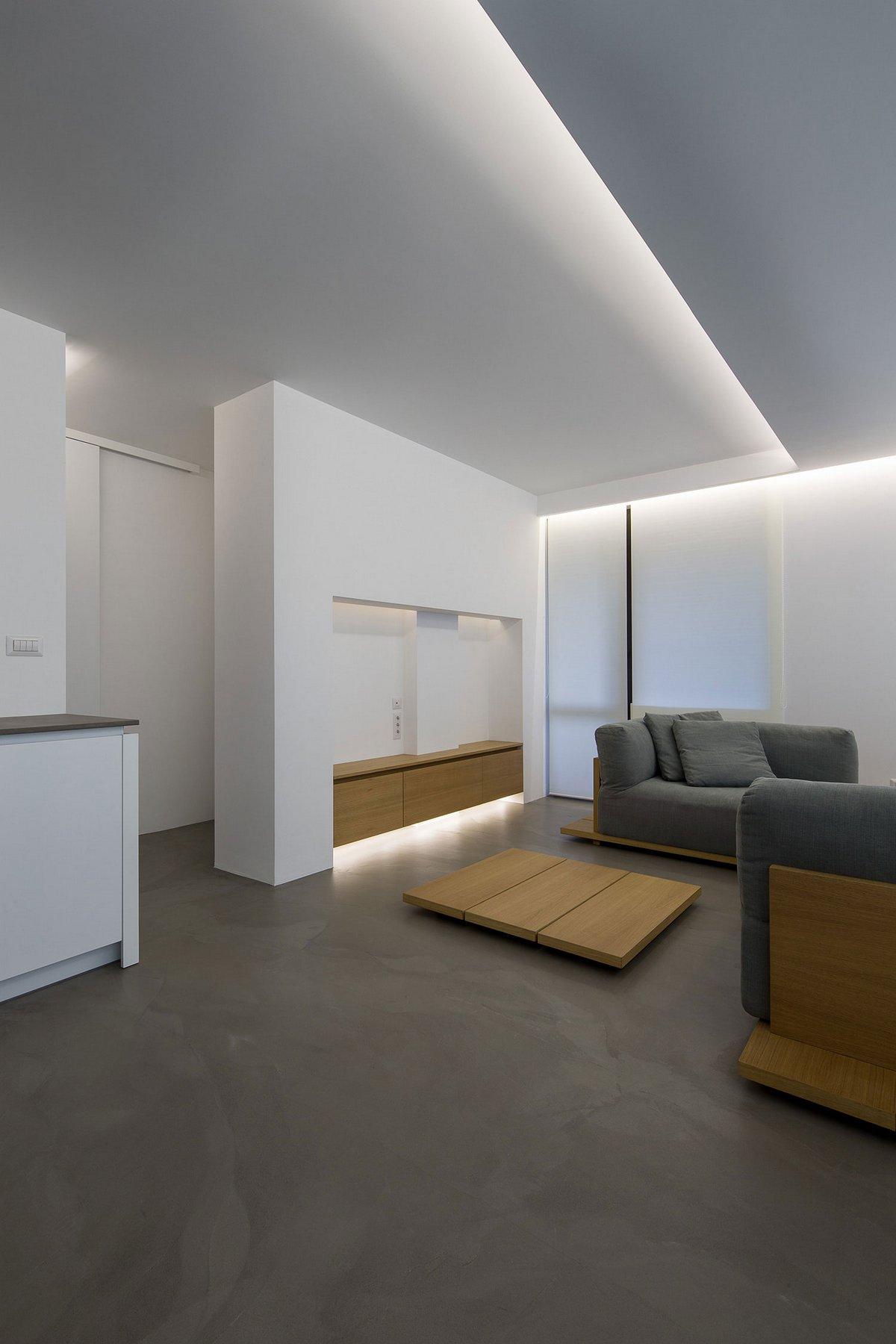 Elia Nedkov, Apartment P, Лозенец, квартиры в Лозенец, дизайн квартиры минимализм, варианты освещения в квартире фото, элитные квартиры в Болгарии