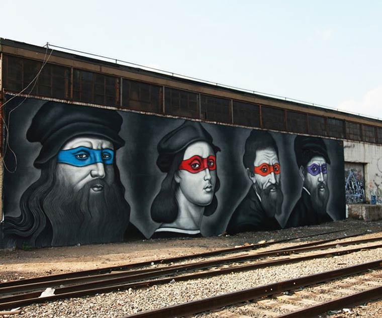 Street Art - When the Ninja Turtles meet the artists from Renaissance