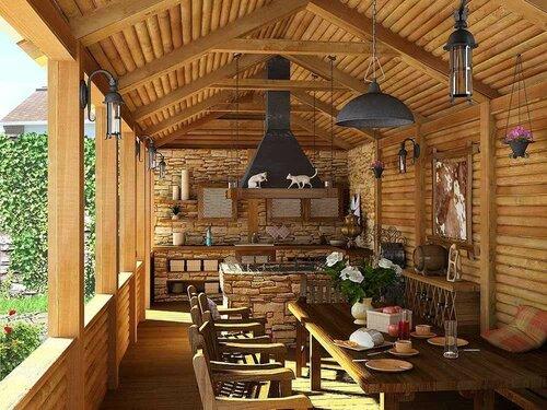 Летняя кухня на свежем воздухе