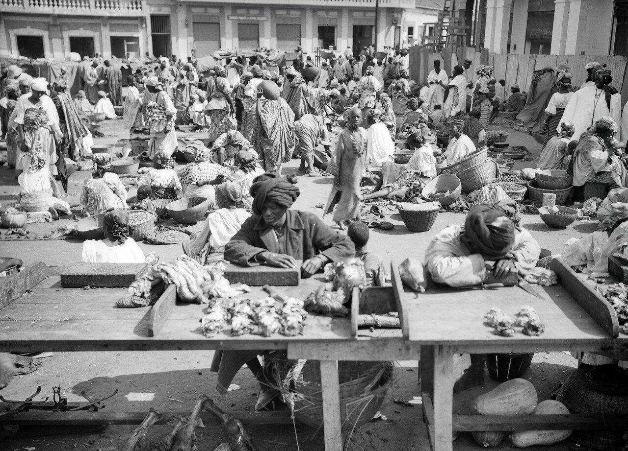 Рынок в африканском городе