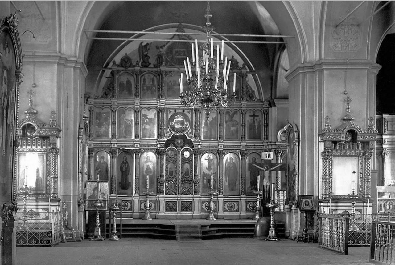 1926. Челябинск. Внутренний вид Смоленского собора Одигитриевского монастыря. Иконостас главного алтаря
