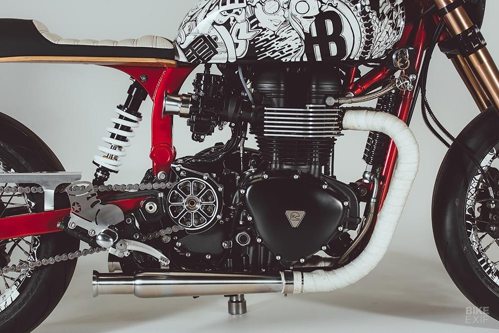 Rogue Motorcycle: кафе рейсер Triumph Thruxton