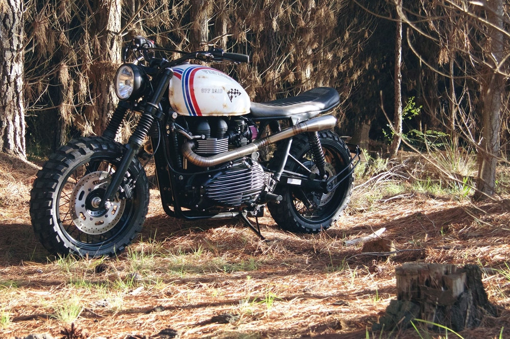 Gasoline Motor Co: кастом Triumph Scrambler
