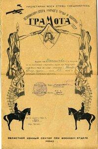 1932 Осоавиахим. Состязаний споривных групп кавалерийской школы