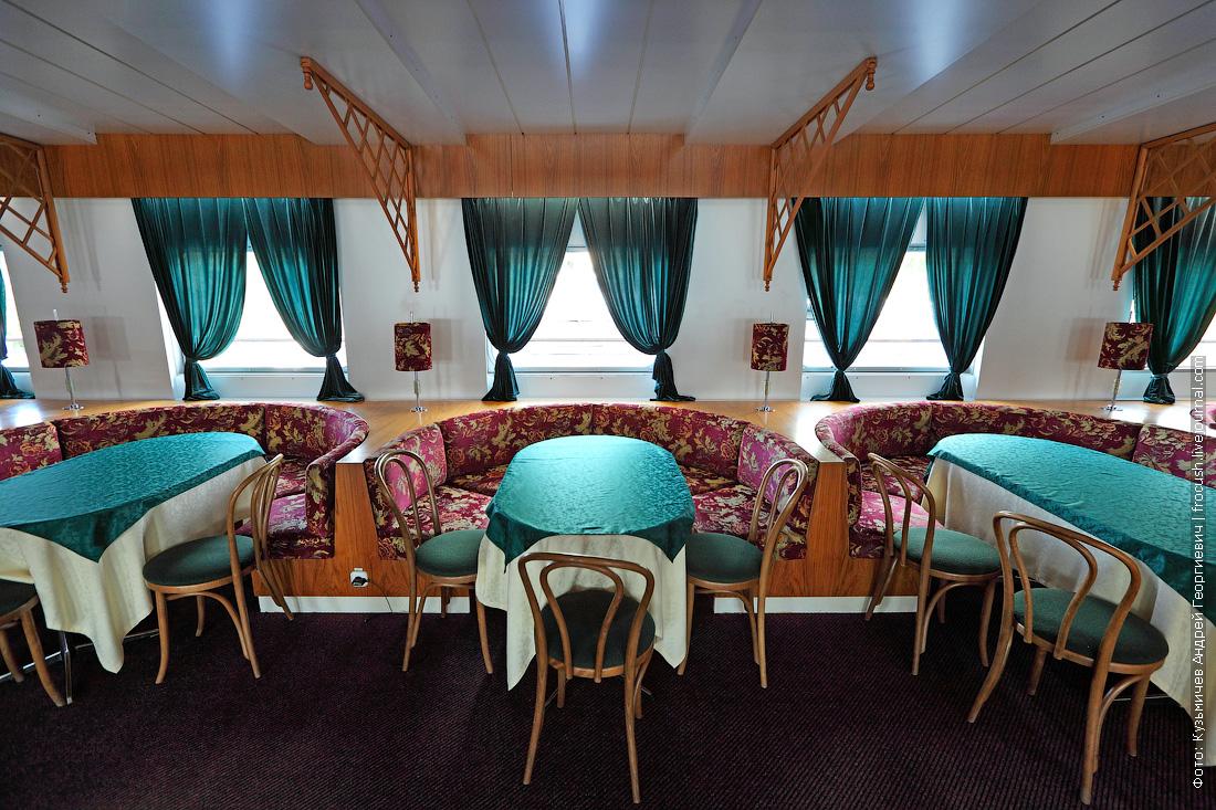 ресторан-бар на шлюпочной палубе фотографии теплоход Дмитрий Фурманов
