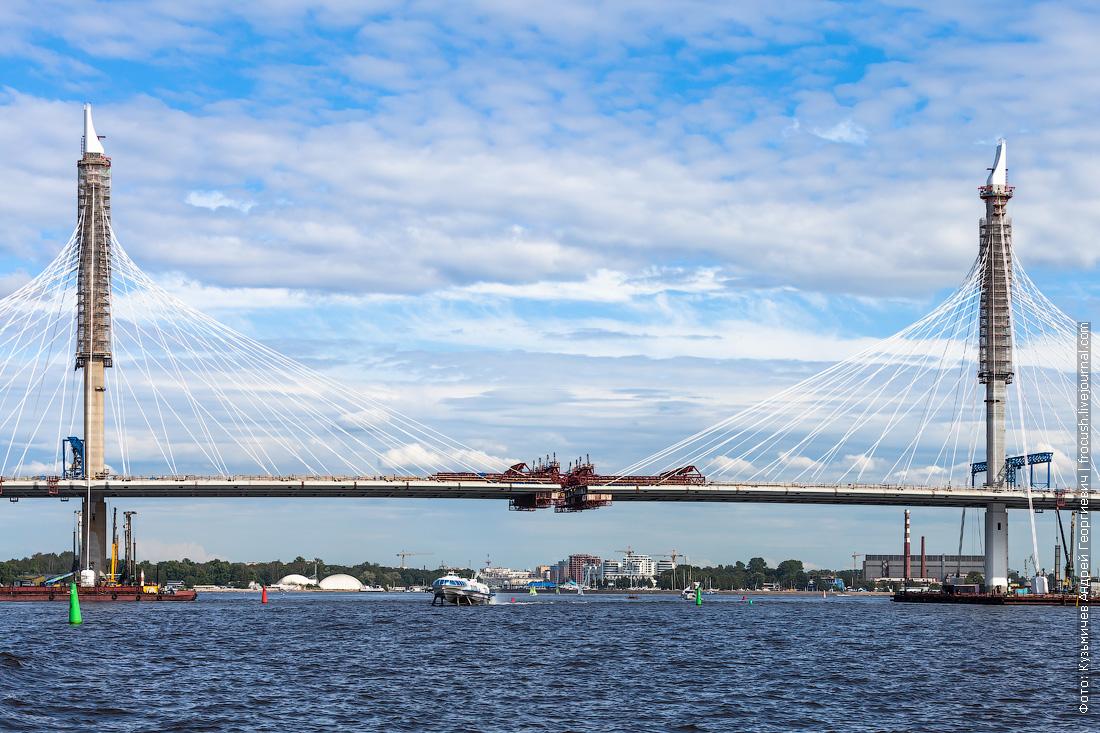 строящийся мост Западного скоростного диаметра