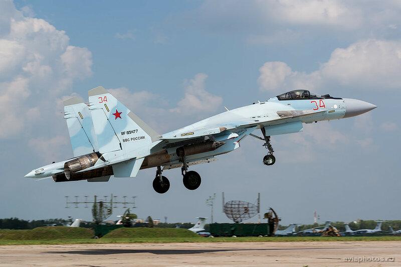 Сухой Су-35С (RF-95477 / 34 красный) ВКС России 0260_D805588