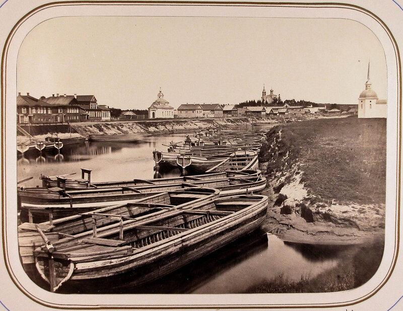 1865 Тихвин. Вид с моста на судоходную пристань.jpg