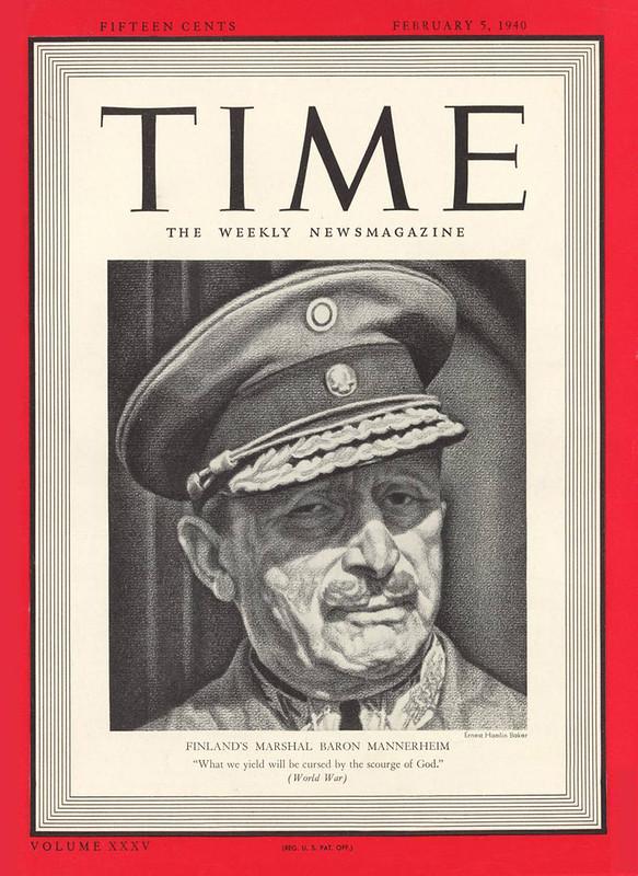 Обложка журнала TIME от 5 февраля 1940 года