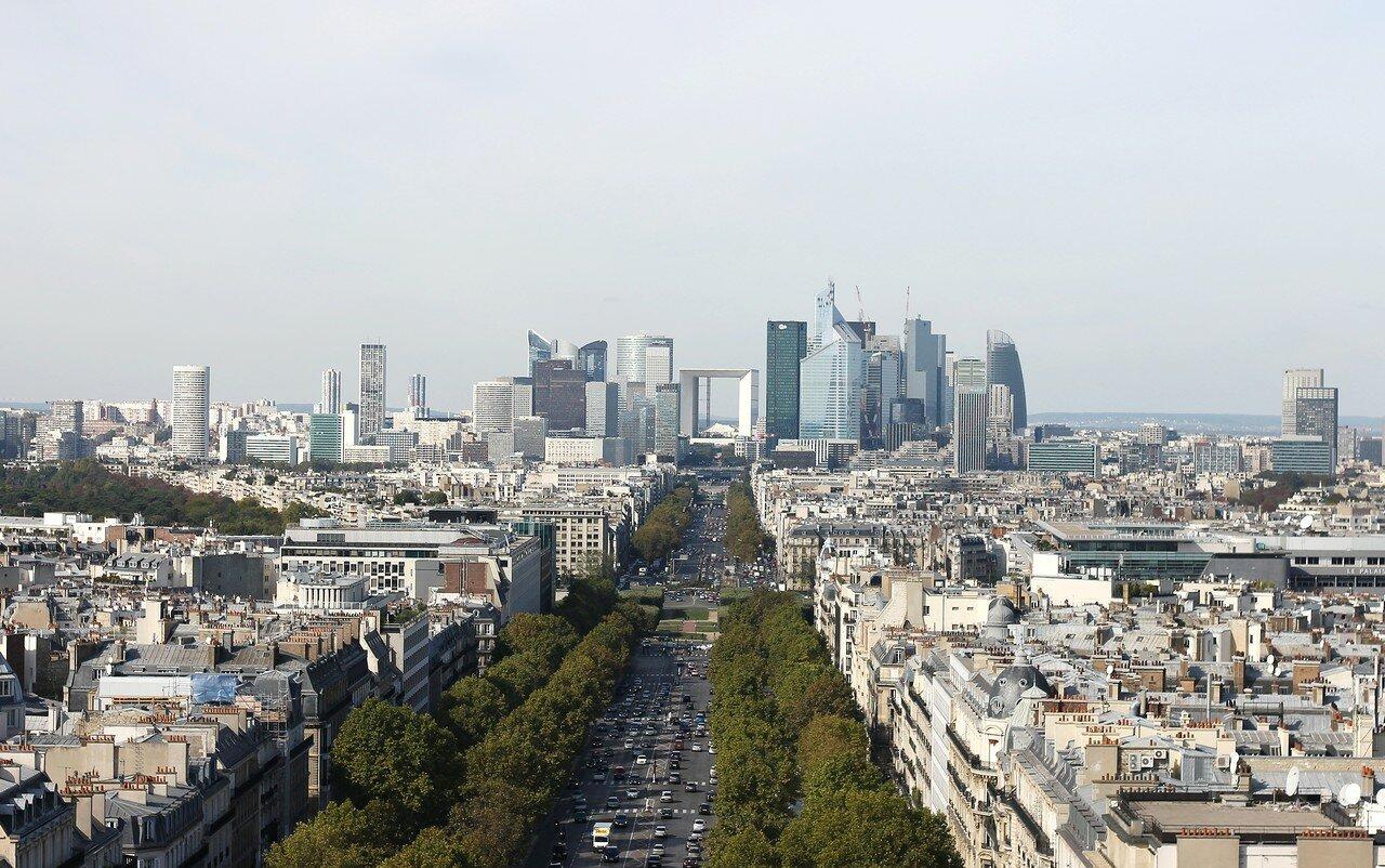 Париж. Вид с Трумфальной арки