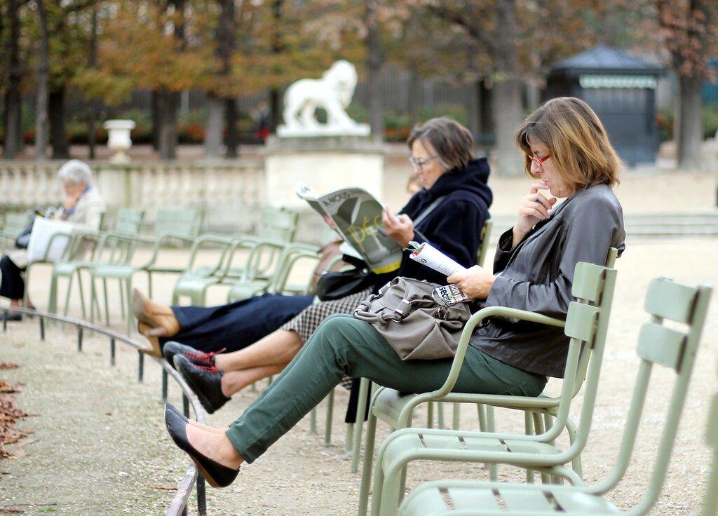Люксембургский сад. Осень. Парижане