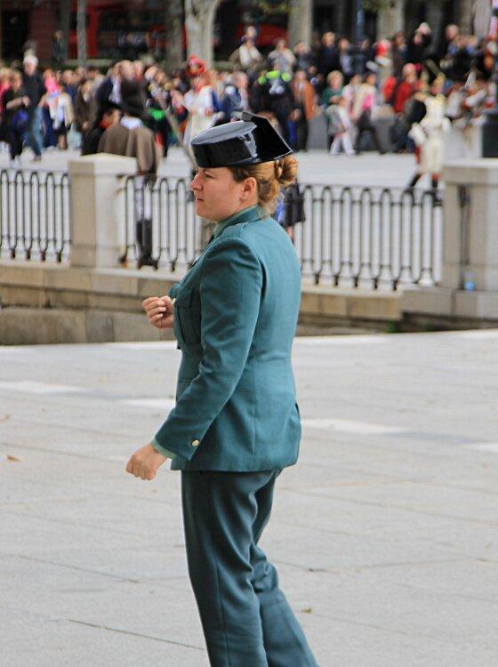 Madrid. The Royal Palace (Palacio Real). Civil guard