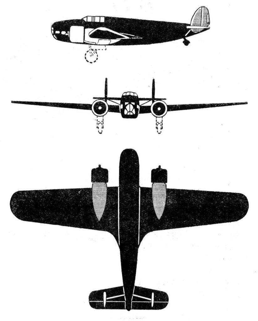 Силуэты итальянских самолетов (1939) 023