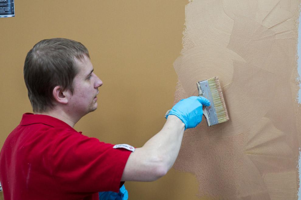 29. Кстати, вот так выглядит стена, покрашенная краской Liitu для школьных досок и разрисованна