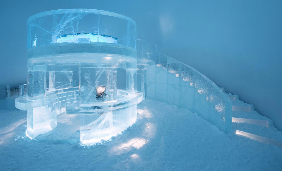 6. В каждой комнате поддерживается температура от -5 до -8 градусов по Цельсию. (Фото Icehotel.