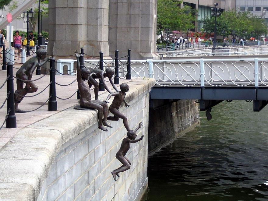 5. Люди у реки, Сингапур Автор этой композиции Чонг Фах Чонг (Chong Fah Cheong) известен большим кол