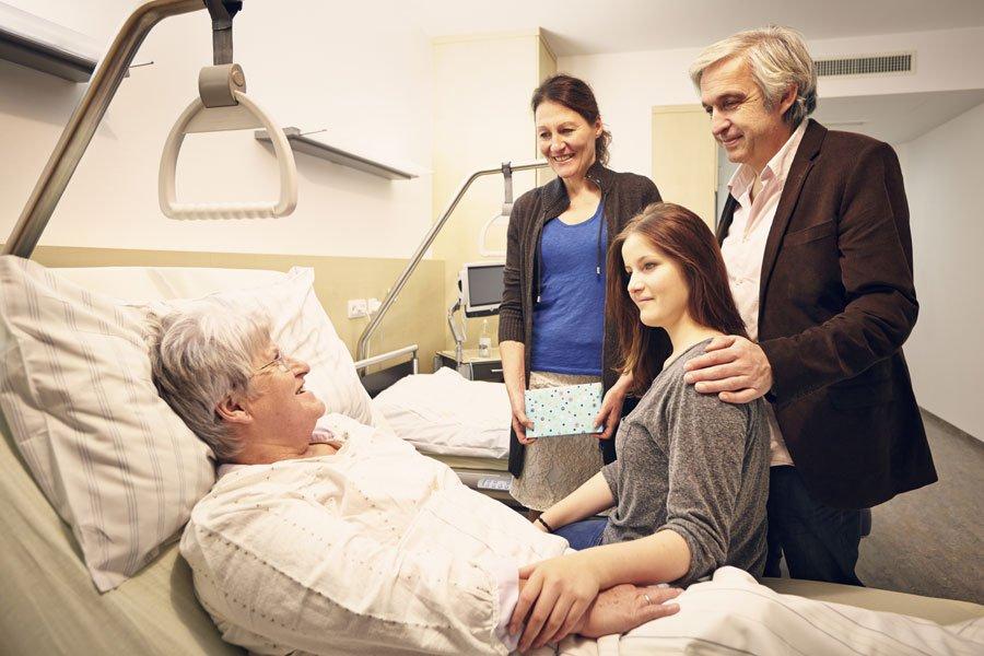 Поддержка семьи идрузей способствует неменее быстрому выздоровлению