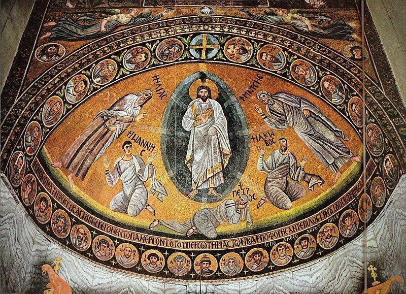 Преображение Господне. Мозаика Базилики Преображения
