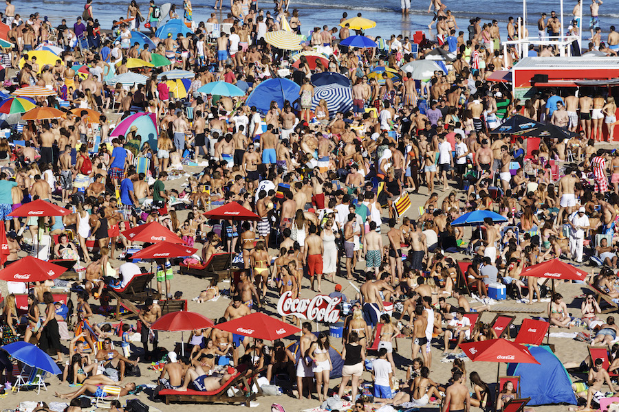 ARGENTINA. Mar Del Plata. Grande Beach. 2014.