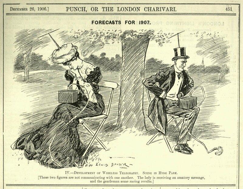 Журнал «Панч» предупреждал о развале общества из за гаджетов еще в 1906 году
