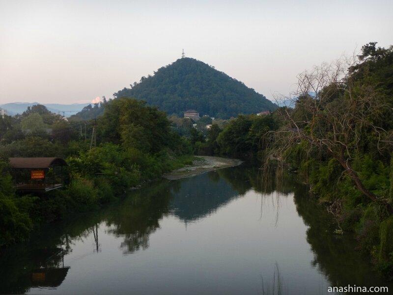 Река Дагомыс, гора Успенка