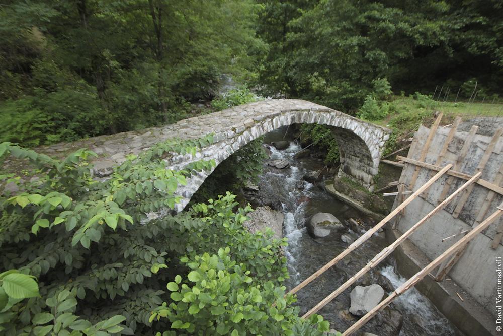 Ущелье реки Мачахела, мост Коколети
