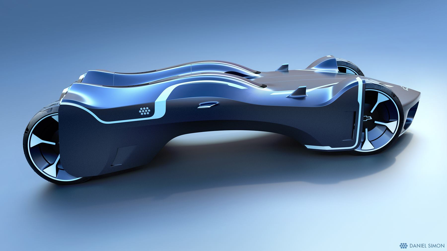 TRON Lightcycle Power Run Car Design by Daniel Simon (4 pics)