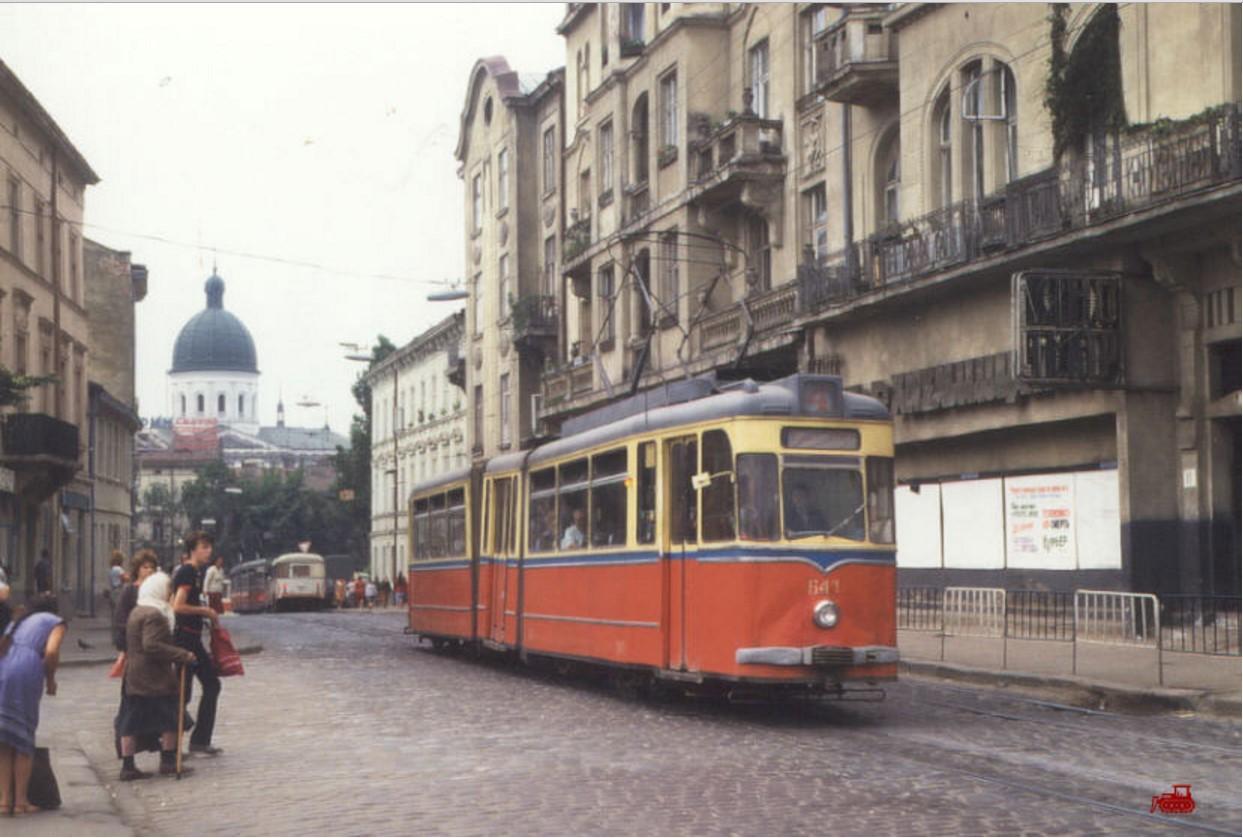 1987. Львов G4 641+741 на 4-м маршруте