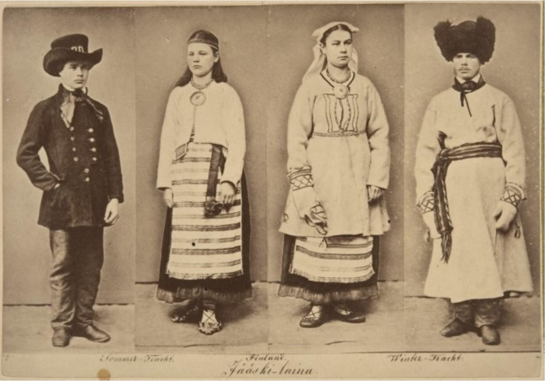 1867-1868. Народные костюмы