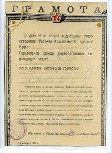 1928 За безупречную непрерывную 10-летнюю службу в рядах Красной Армии