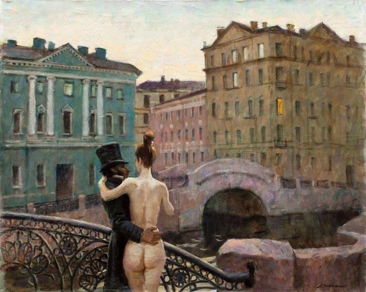 Пушкин и муза Виктор Ляпкало.