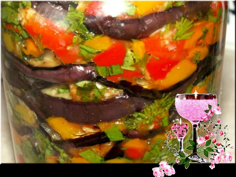 Рецепт салатов баклажан