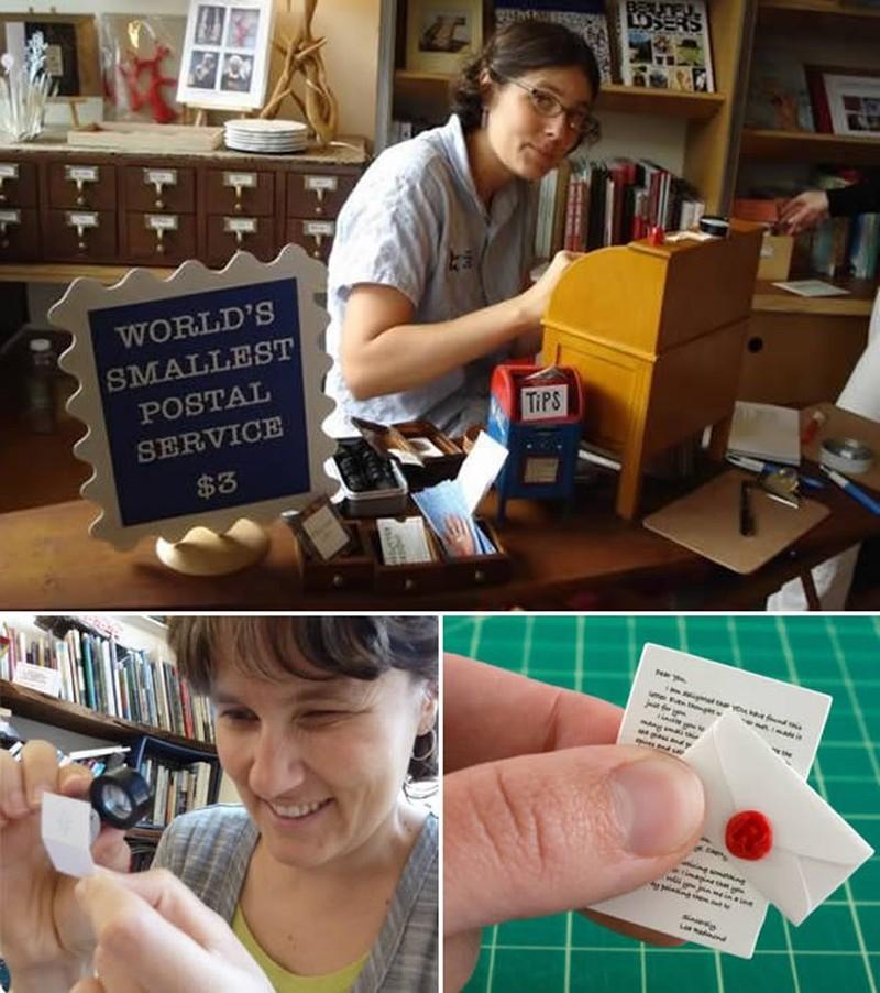 8. В самой маленькой почтовой службе мира ваши письма написаны микроскопическими буквами, тщательно