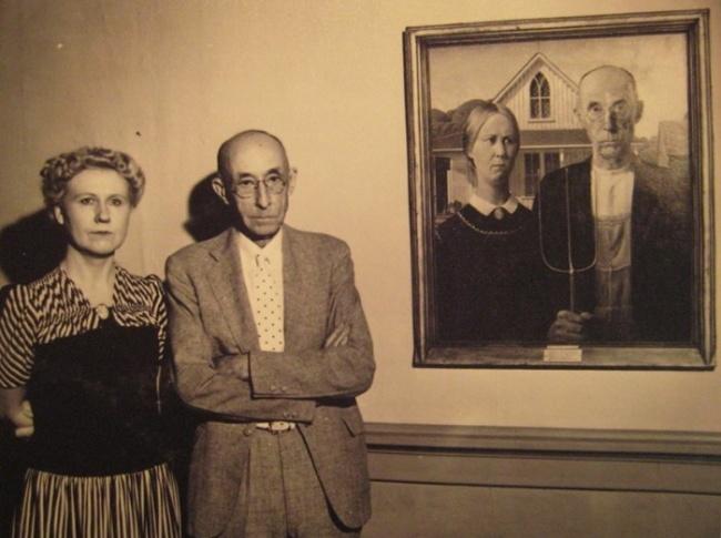Сестра художника Гранта Вуда, автора «Американской готики», и зубной врач Байрон Маккиби, послуживши