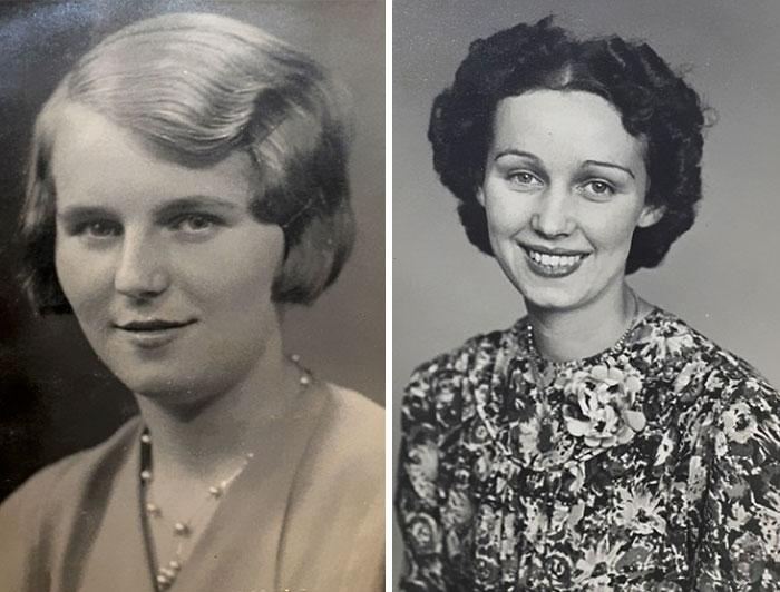 Фотографии сестер, где им чуть больше 20 лет.