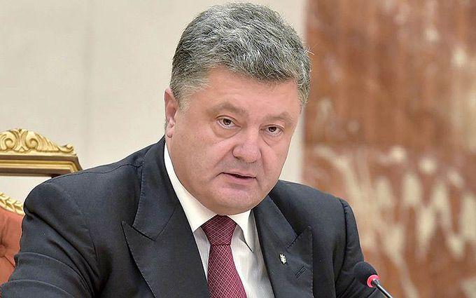 П.Порошенко поблагодарил Президента России В. Путина