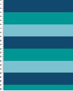 """Футер 2х нитка петля, 95хб/5лайкра, ПЕНЬЕ 180см,240г/м, """"Ментолово-синяя полоса"""" Цена 490 руб. ."""