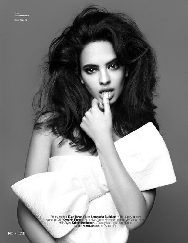 Nina Daniele for D'SCENE Magazine by Elias Tahan