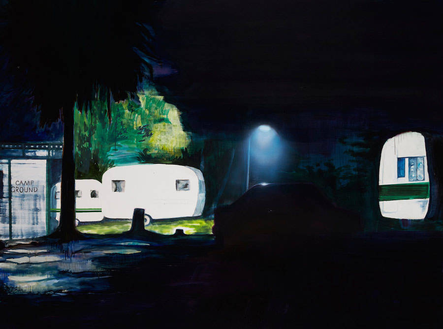 Mysterious Paintings of Silent Scenes at Night
