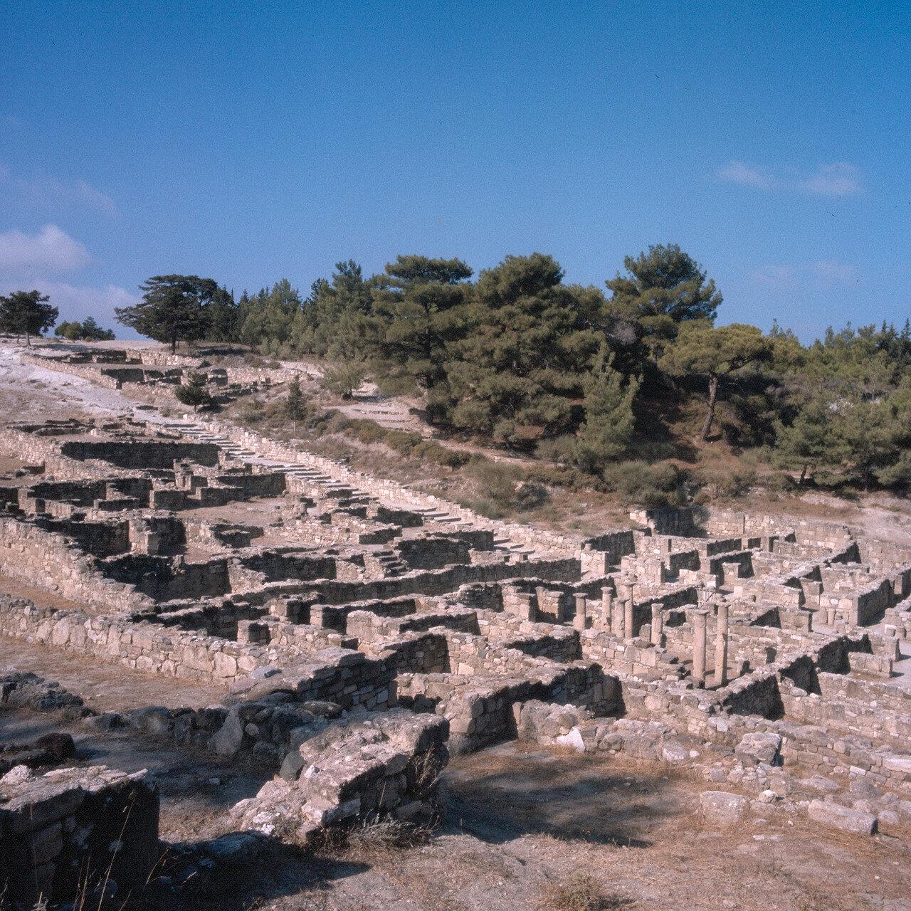Камирос. Часть города, построенная на склоне холма. II в. до н.э. Видны ступени Декуманоса