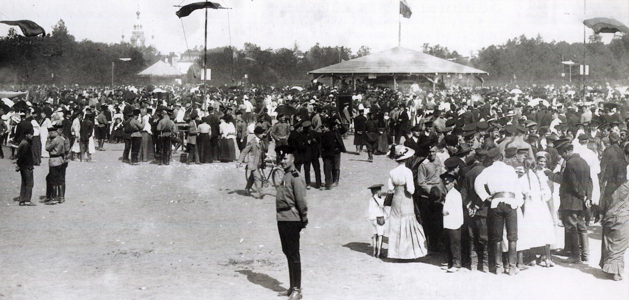 1913. Народные гулянья в дни 300-летия Дома Романовых