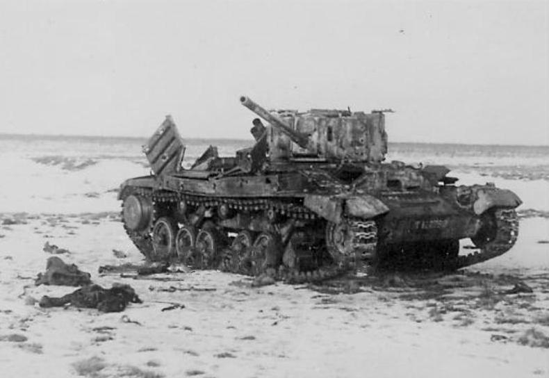 "Пехотный танк Mk.III ""Valentine"" из 226-го тп подбитый 10 марта 1944 г. в р-не д.Панёво."
