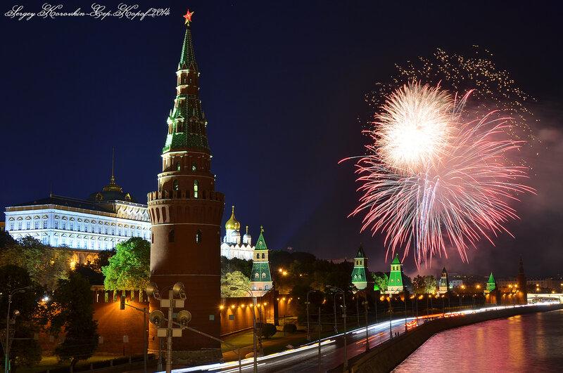 Салют на открытие фестиваля Спасская Башня 2014 №6