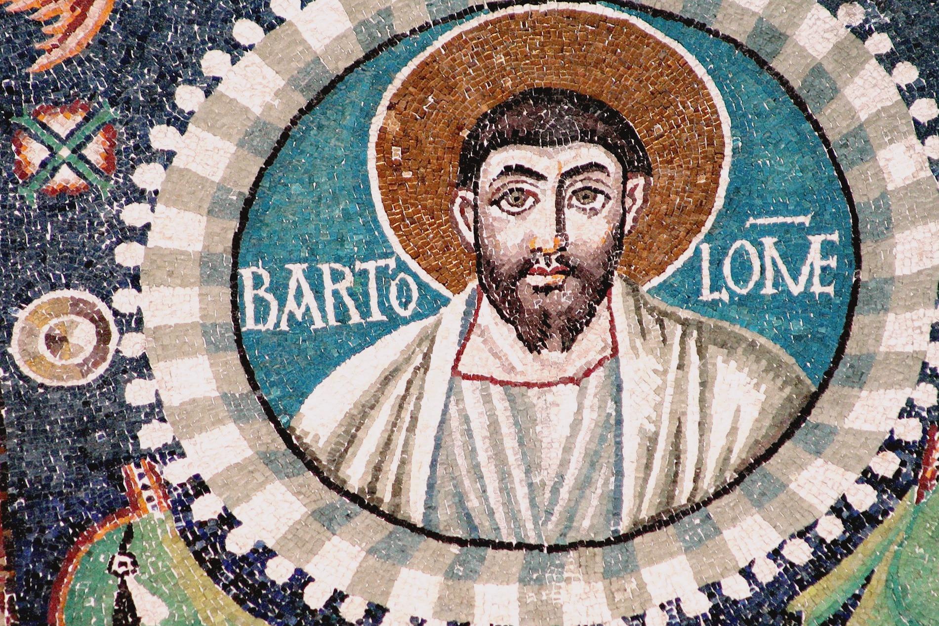 Святой Апостол Варфоломей. Мозаика церкви Сан Витале в Равенне. VI век.