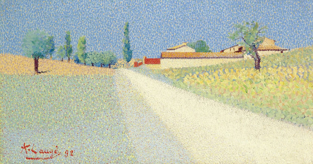 Achille Lauge - The Road in Compagne, 1892.jpeg