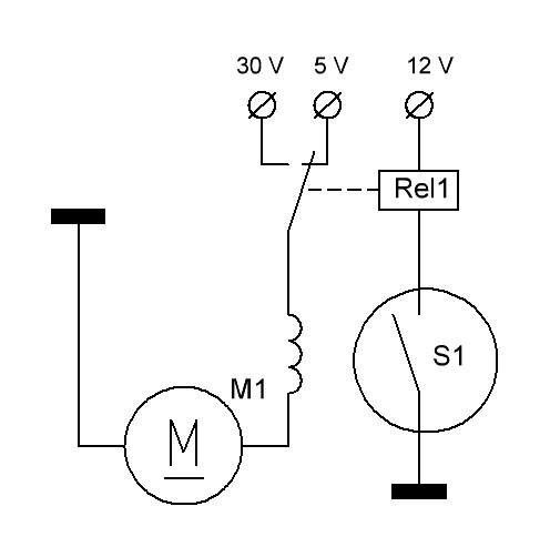 геркон (S1) в данной схеме
