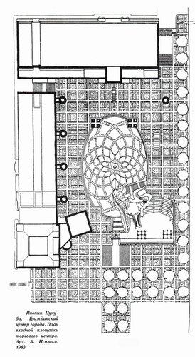 Цукуба, гражданский центр города, план входной площади торгового центра