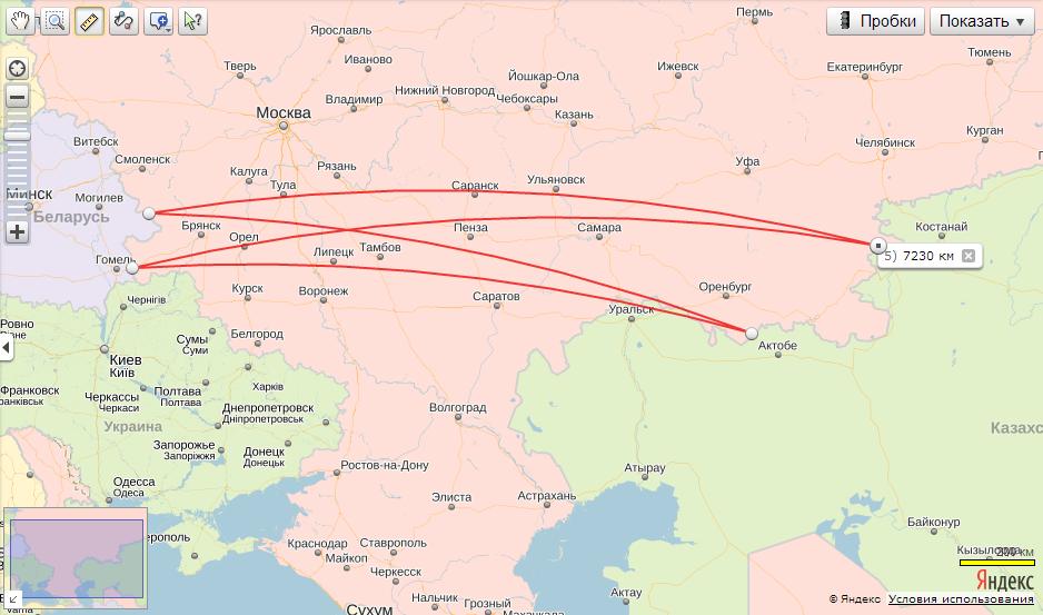 Европейской части России,