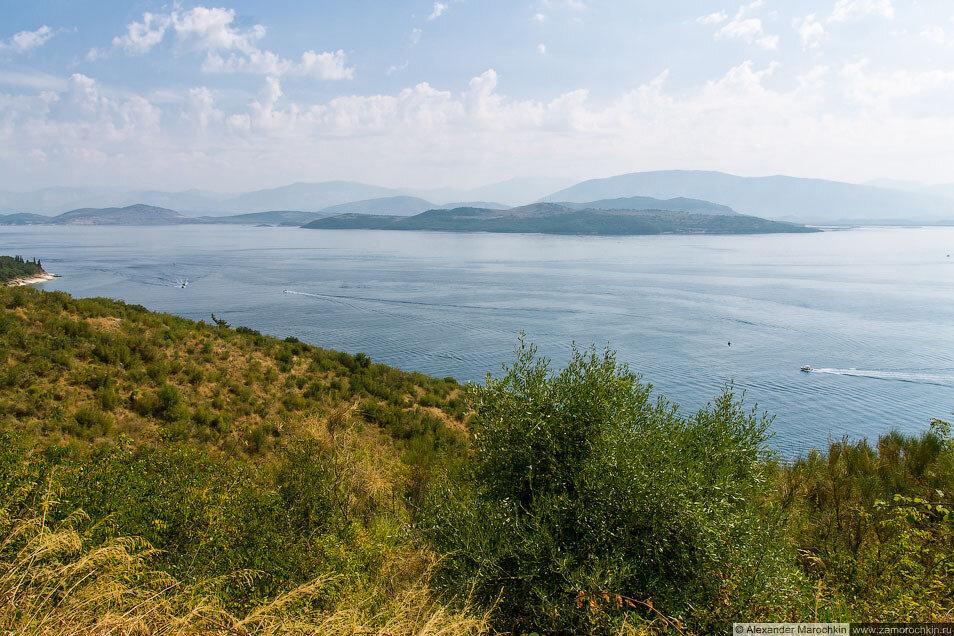 Албанский берег, вид с Корфу