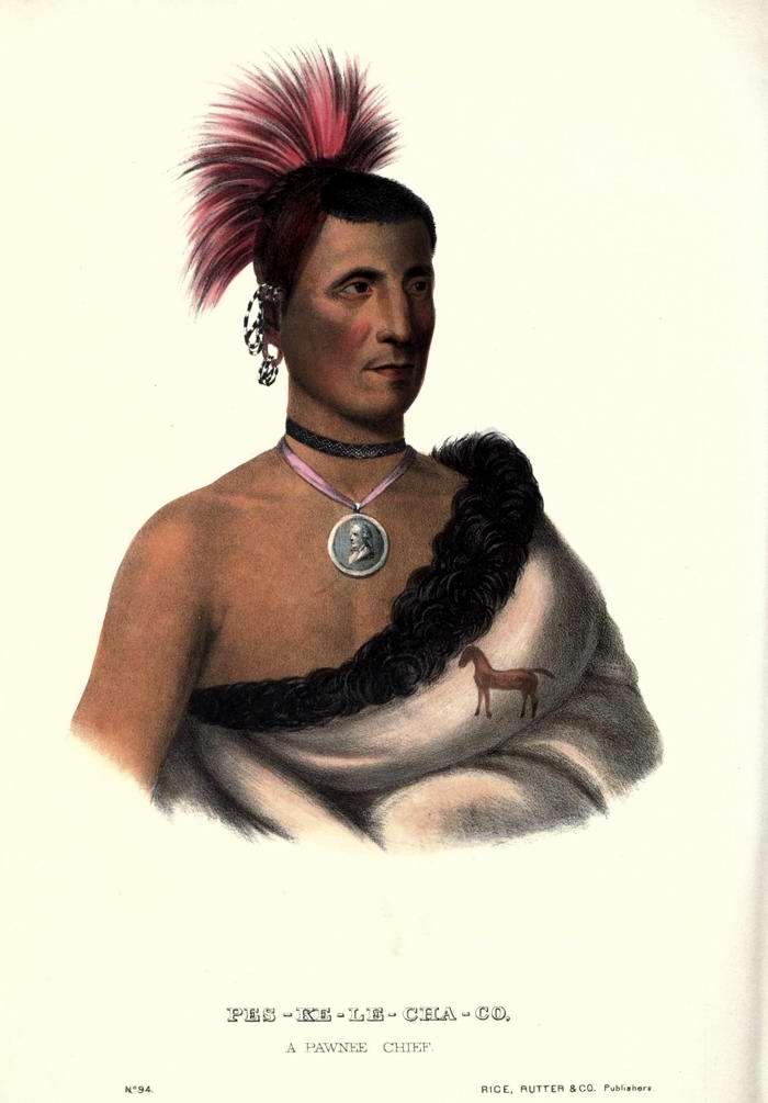 Еще один вождь племени Pawnee